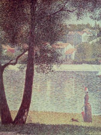 The Seine at Courbevoie, 1885 by Georges Seurat