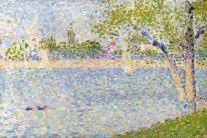 The Seine Seen from La Grande Jatte, 1888 by Georges Seurat