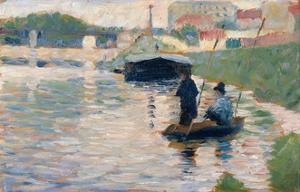 View of the Seine by Georges Seurat