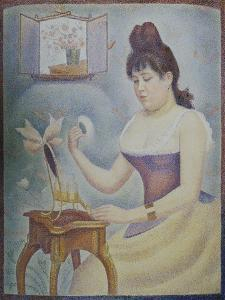 Young Woman Powdering Herself, 1889/90 by Georges Seurat