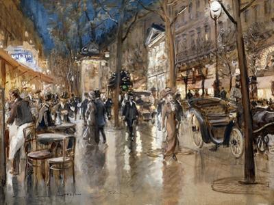 Evening on a Parisian Boulevard