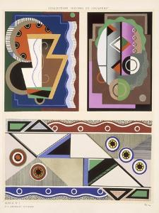 Abstract Designs, from 'Decorations and Colours', Published 1930 (Colour Litho) by Georges Valmier