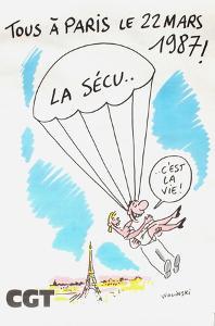 La Sécu c'est la vie by Georges Wolinski