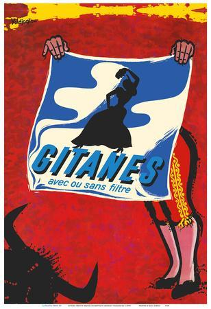 Gitanes French Brand Cigarettes - With or Without Filter (Avec ou Sans Filtre) - Matador