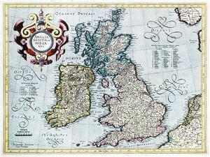 16th Century Map of the British Isles by Georgette Douwma