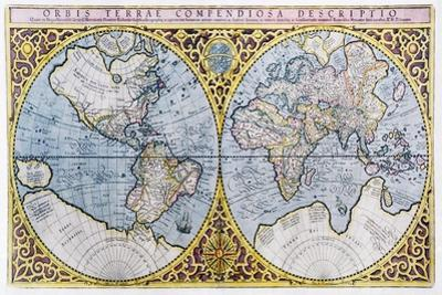 16th Century World Map by Georgette Douwma