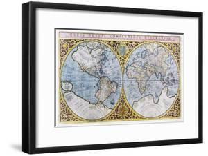 16th Century World Map by Georgette Douwma