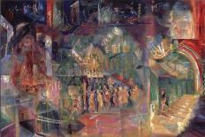 Horseracing, 1911-Georgi Bogdanovich Yakulov-Giclee Print