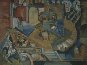 Café by Georgi Bogdanovich Yakulov
