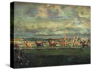 Horseracing, 1911 by Georgi Bogdanovich Yakulov