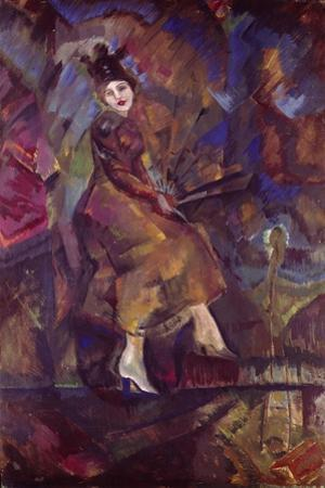 Portrait of Panna Paskevich by Georgi Bogdanovich Yakulov
