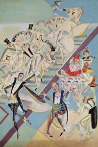 Stage Design for the Operetta Girofle-Giroflia by Ch. Lecocq, 1922 by Georgi Bogdanovich Yakulov