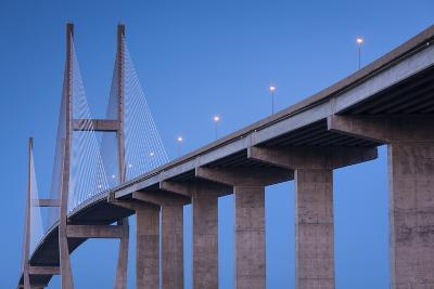 Georgia, Brunswick, Sidney Lanier Bridge, across the Brunswick River-Walter Bibikow-Photographic Print