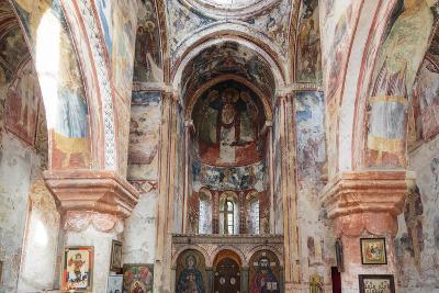 Georgia, Kutaisi. Religious Artwork Inside the Gelati Monastery-Alida Latham-Photographic Print