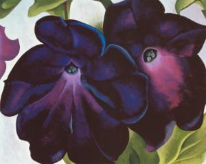 Black and Purple Petunia, 1925 by Georgia O'Keeffe