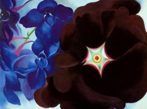 Black Hollyhock Blue Larkspur, 1930 by Georgia O'Keeffe