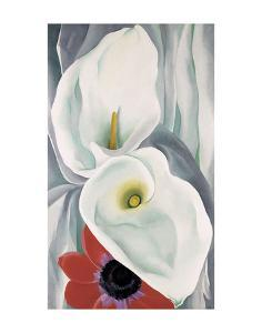 Calla Lilies with Red Anemone, 1928 by Georgia O'Keeffe