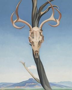 Deer's Skull with Pedernal by Georgia O'Keeffe