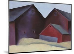 Ends of Barns by Georgia O'Keeffe