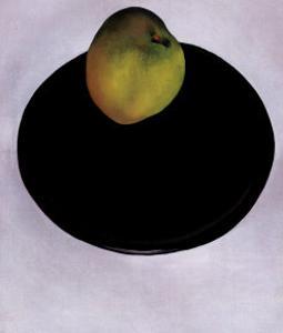 Green Apple on Black Plate, 1922 by Georgia O'Keeffe
