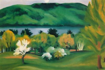 Lake George, Early Moonrise Spring, 1930 by Georgia O'Keeffe