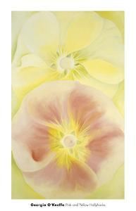 Pink and Yellow Hollyhocks, 1952 by Georgia O'Keeffe