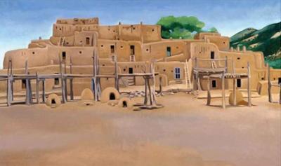 Taos Pueblo by Georgia O'Keeffe