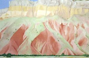 Untitled Red & Yellow Cliffs by Georgia O'Keeffe