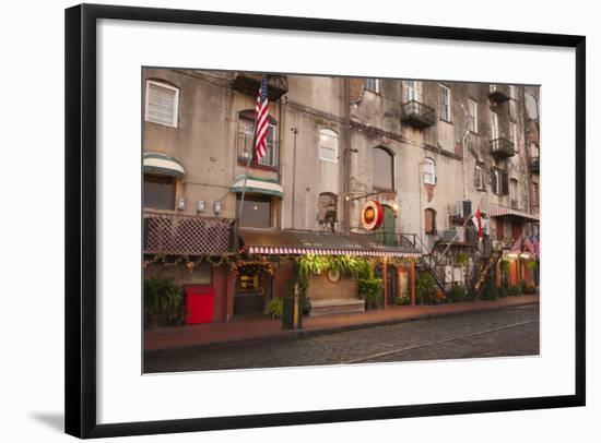 Georgia, Savannah, Historic Buildings Along River Street-Joanne Wells-Framed Photographic Print
