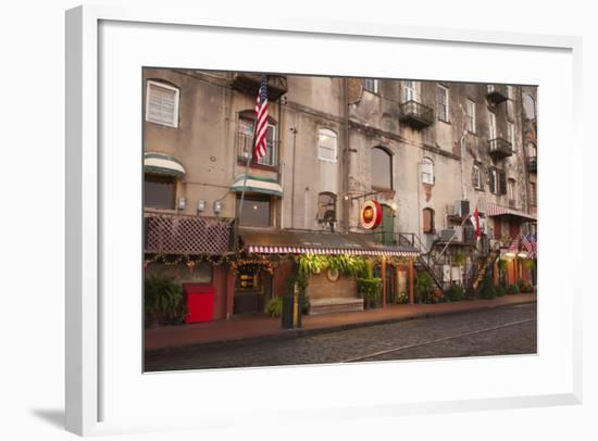Georgia, Savannah, Historic Buildings Along River Street-Joanne Wells-Framed Photographic Print