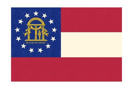 Georgia State Flag-Lantern Press-Art Print