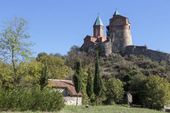 Georgia, Telavi. Gremi Monastery from a Nearby Field-Alida Latham-Photographic Print