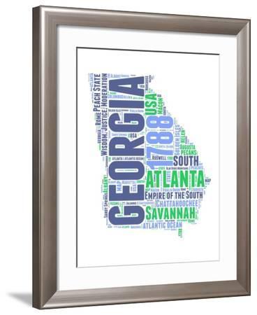 Georgia Word Cloud Map-NaxArt-Framed Art Print