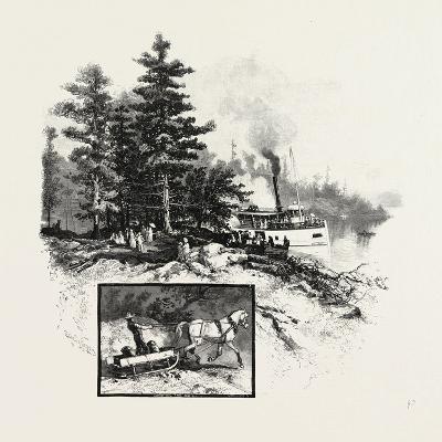 Georgian Bay and the Muskoka Lakes, at the Landing, Rosseau, Canada, Nineteenth Century--Giclee Print