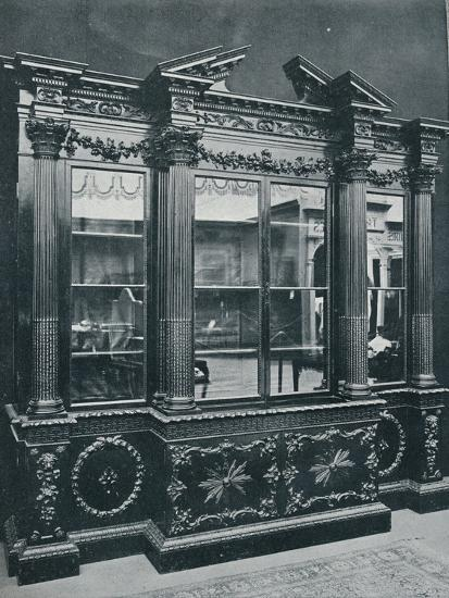 'Georgian Cabinet, reproduced by permission of H.R.H. The Princess of Wales', 1908-Unknown-Photographic Print