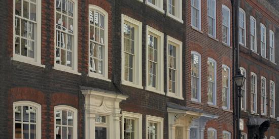 Georgian Terrace Facades, Spitalfields, London-Richard Bryant-Photographic Print