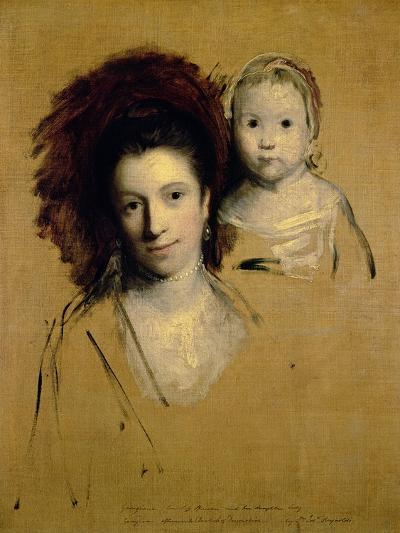 Georgiana, Countess Spencer and Her Daughter Lady Georgiana, Afterwards Duchess of Devonshire, 1759-Sir Joshua Reynolds-Giclee Print