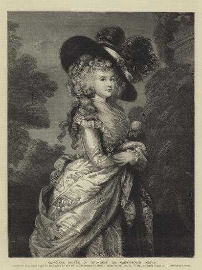 Georgiana, Duchess of Devonshire, the Gainsborough Portrait--Giclee Print