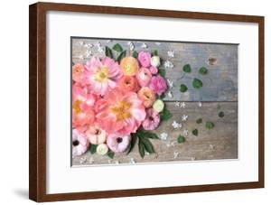 Overhead Shot of Ranunculus, Peonies and Anemones by Georgianna Lane