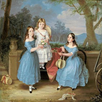 Georgina, Emily and Augusta Rose, C.1848-Martha Berkeley-Giclee Print