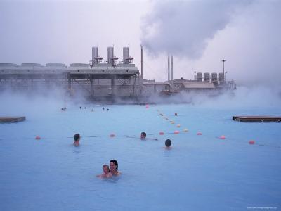 Geothermal Bathing, Blue Lagoon, Reykjanes Peninsula, Iceland, Polar Regions-Geoff Renner-Photographic Print