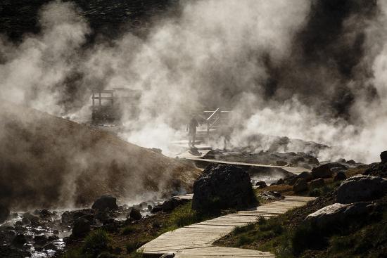Geothermal Fields at Krysuvik, Reykjanes Peninsula, Iceland, Polar Regions-Yadid Levy-Photographic Print