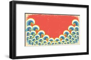Abstract Waves Illustration On Vintage by GeraKTV