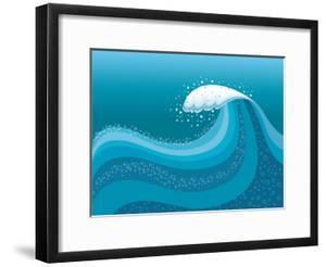 Big Wave In Ocean.Water Background by GeraKTV