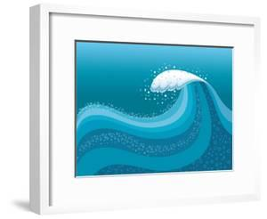 Big Wave In Ocean.Water Background by GeraKTV
