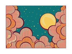 Retro Clouds Poster by GeraKTV