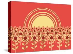Sunflowers Landscape Background by GeraKTV