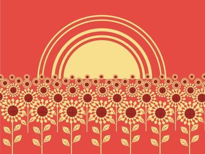 Sunflowers Landscape Background