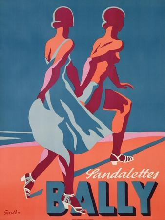 Advertisement for Bally Sandals, 1935 (Colour Litho)