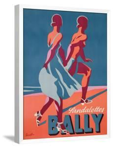Advertisement for Bally Sandals, 1935 (Colour Litho) by Gerald